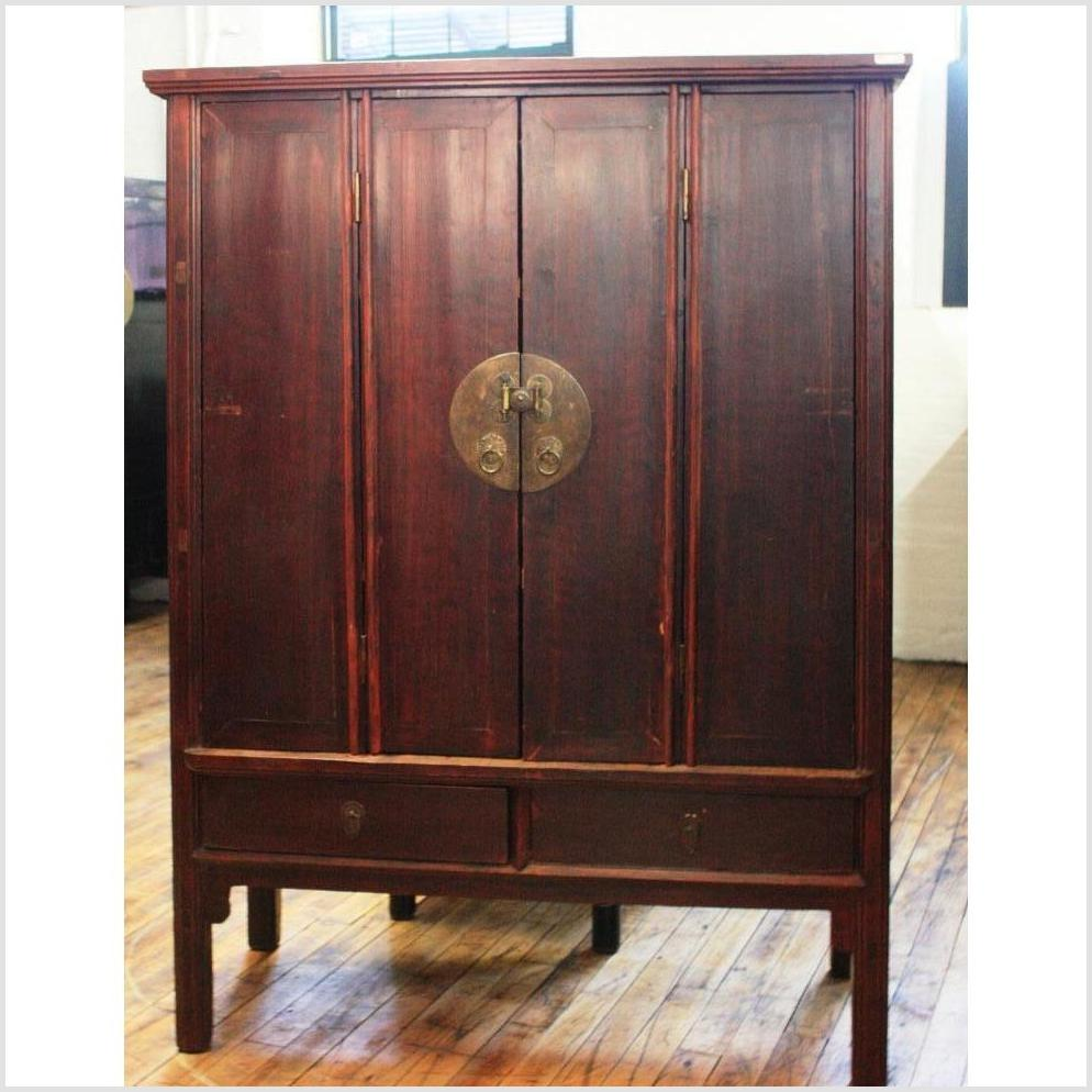 Large Chinese Cabinet with Accordion Doors