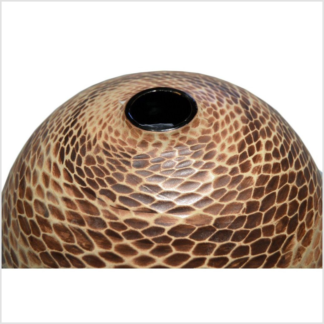 Large Thai Snakeskin Vase