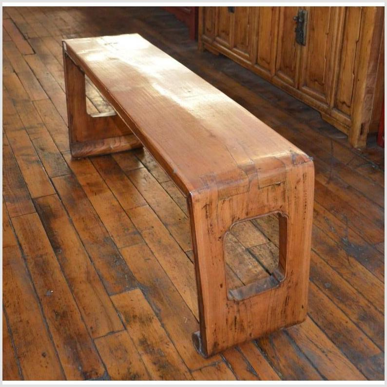 Natural Wood Low Bench
