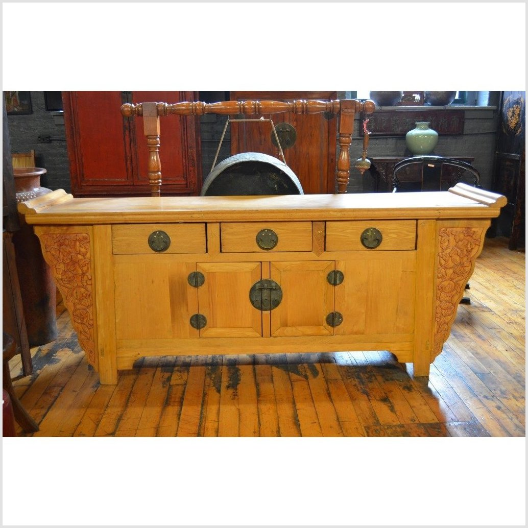 Natural Wood Sideboard