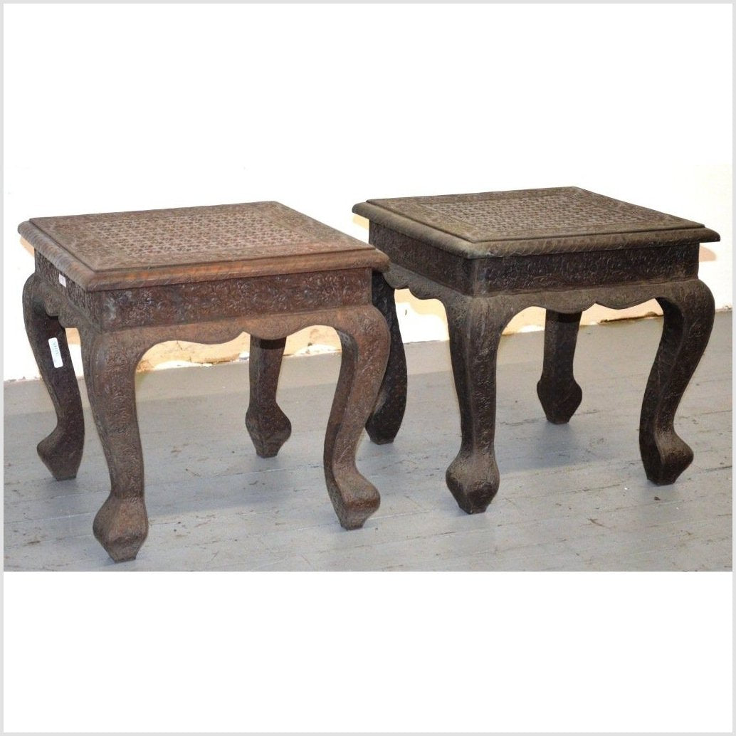 Nickel Silver Repousse Tables