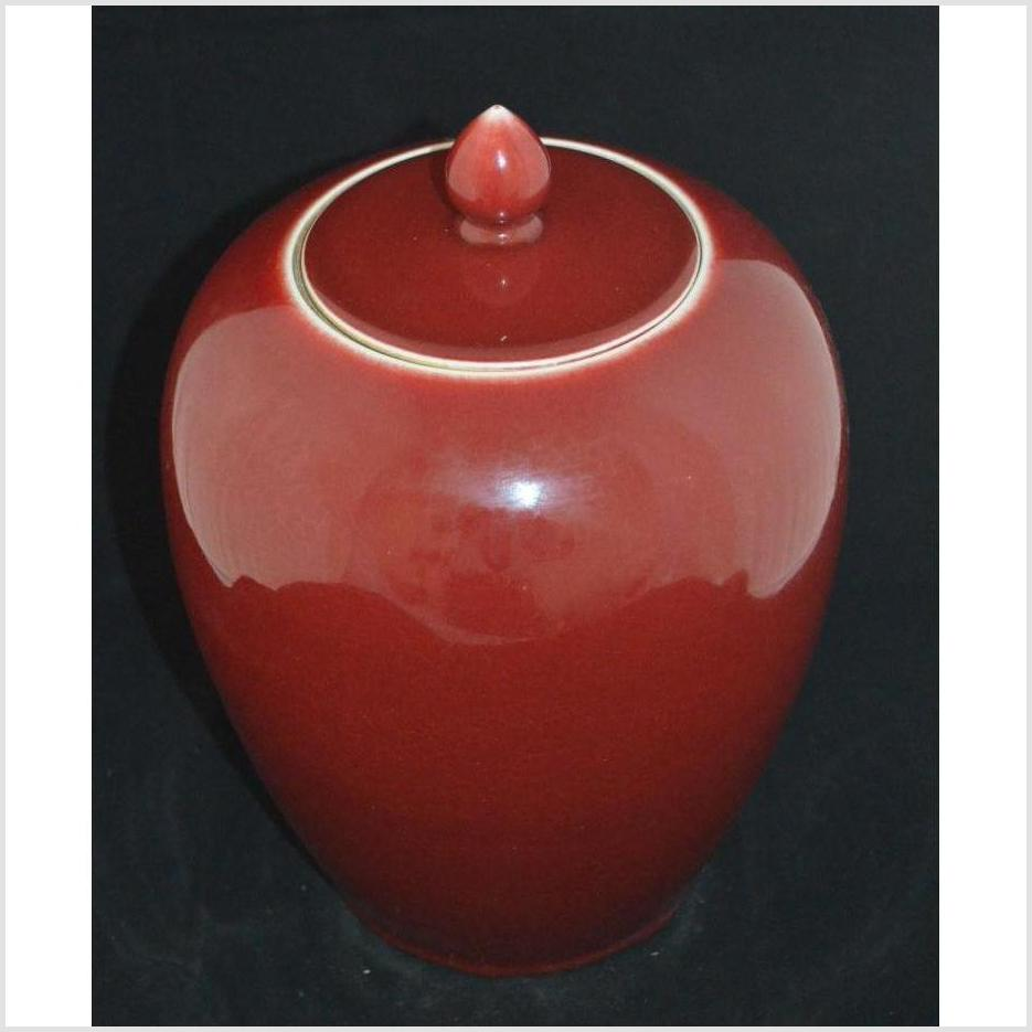 Oxblood Ginger Jar