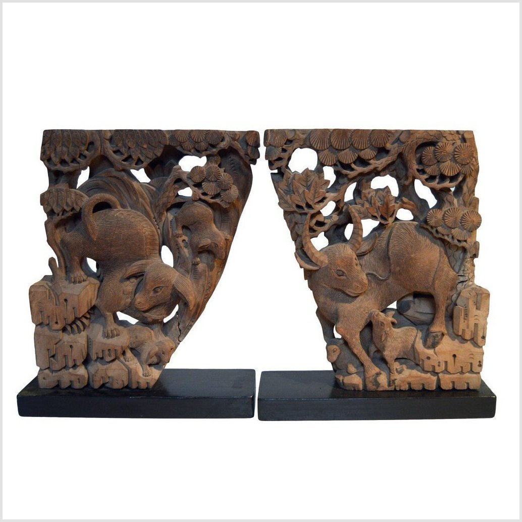 Pair of Antique Chinese Corbels
