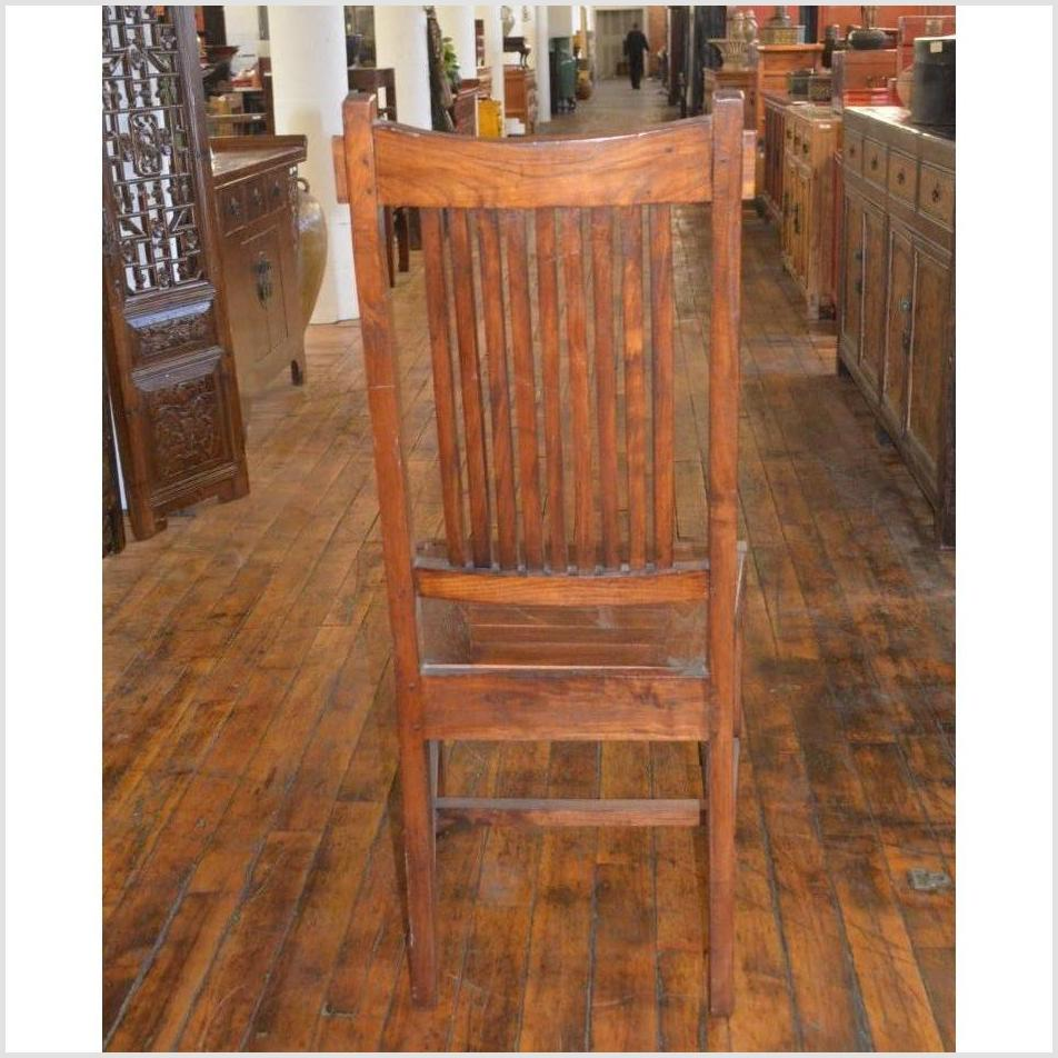 Pair of Teak Armless Chairs