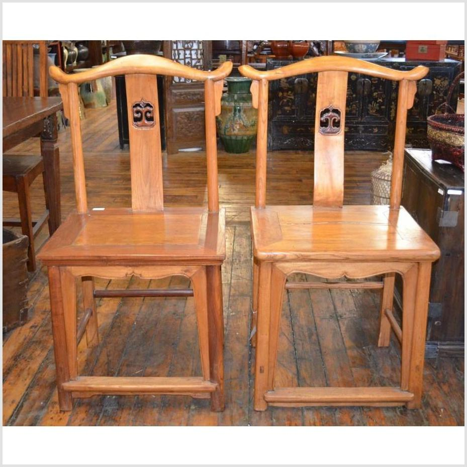 Pair of Yoke Back Chairs
