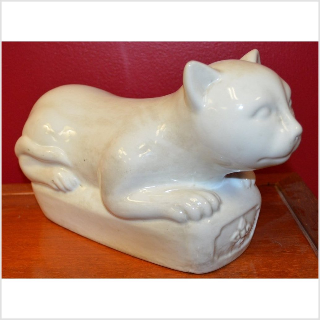Porcelain Reclining Cat (pillow)