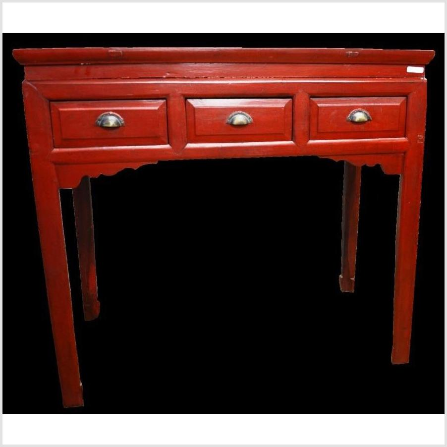 Red Lacquer Console Table