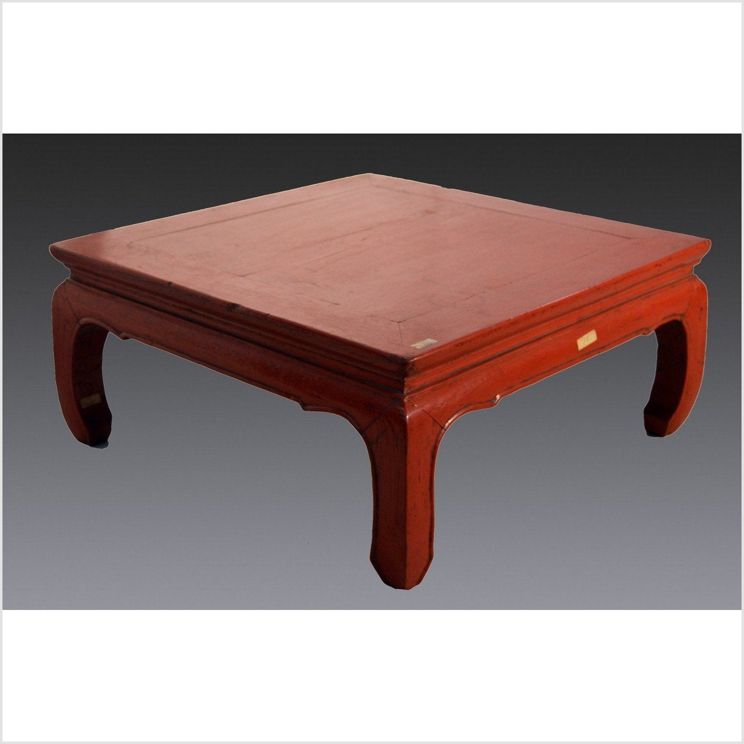 Red Lacquer Low Chow Leg Table