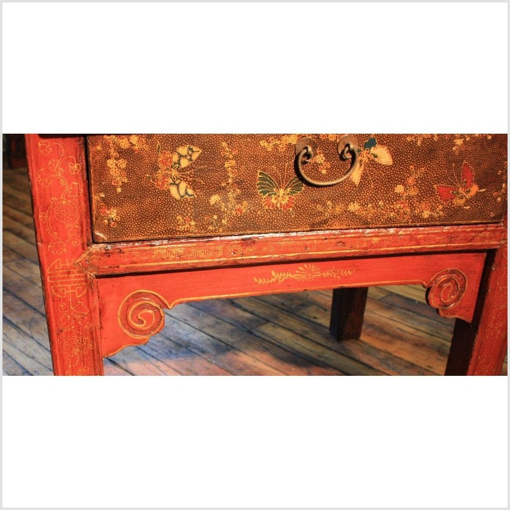 Red Lacquer Shanxi Cabinet