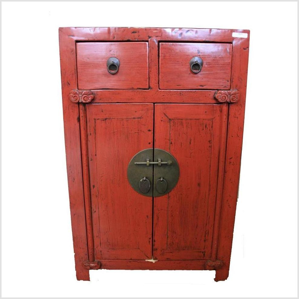 Red Lacquered Cabinet/Chest