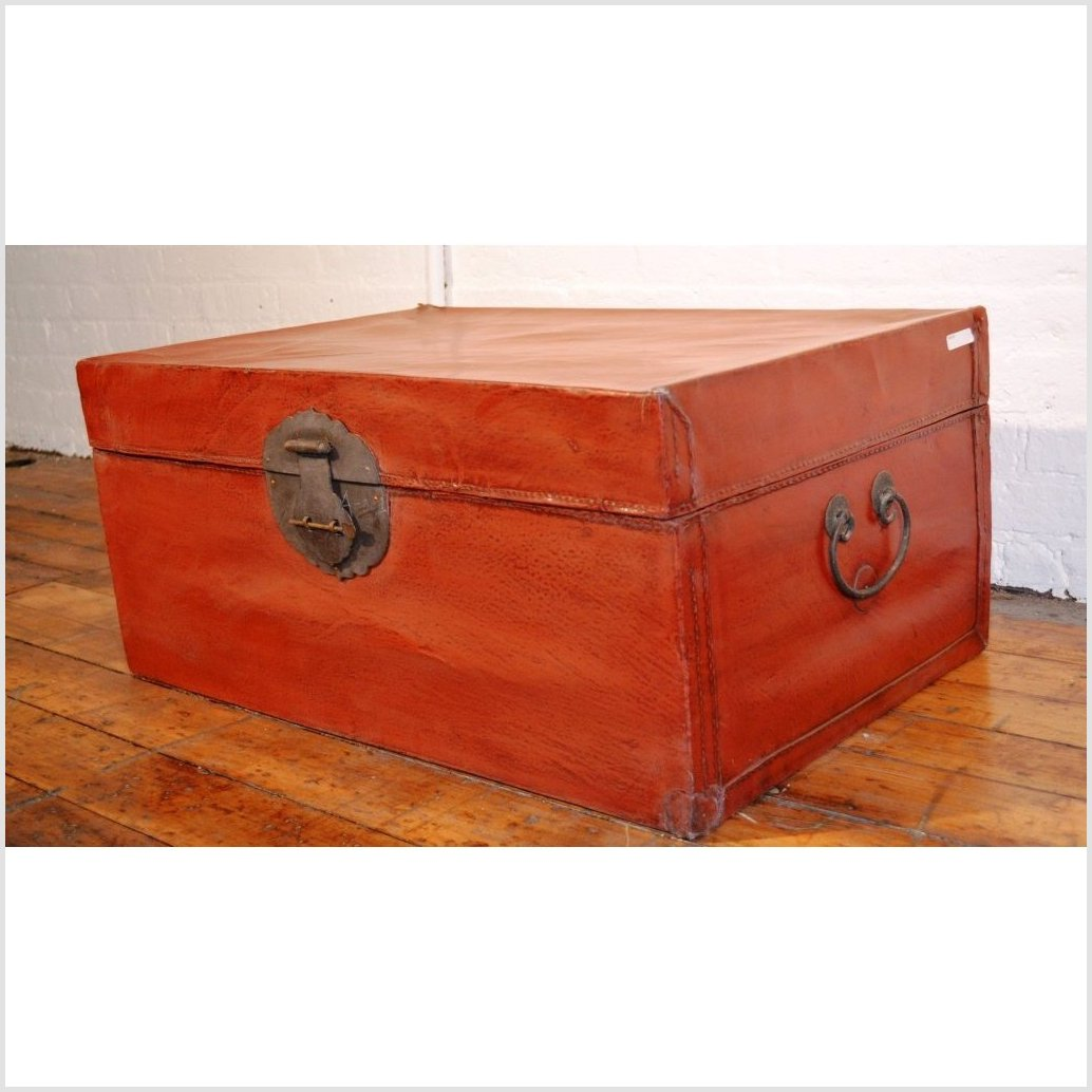 Red Leather Trunk