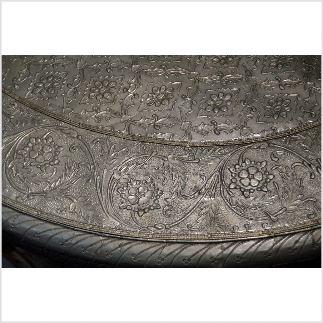Hand-Repousse Nickel-Silver Demi Table