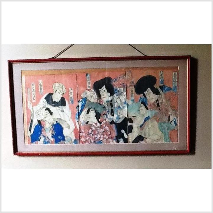 Series of Framed Japanese Prints