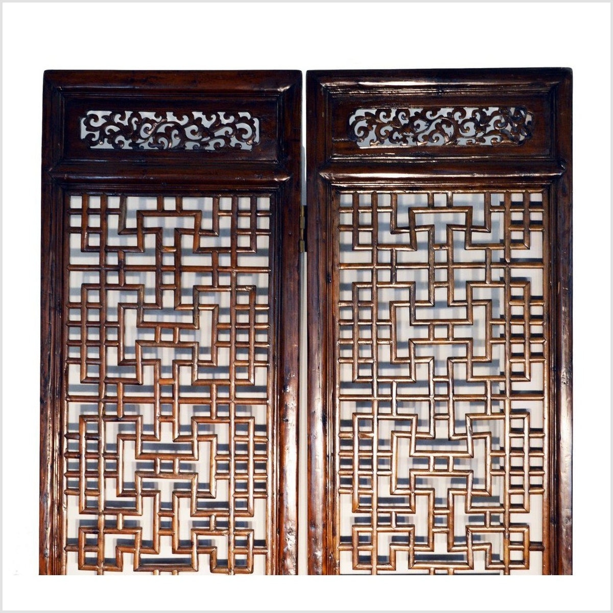 Antique Chinese Fretwork Screen