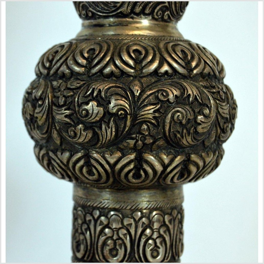 Silver Plated Hand Tooled Incense Burner