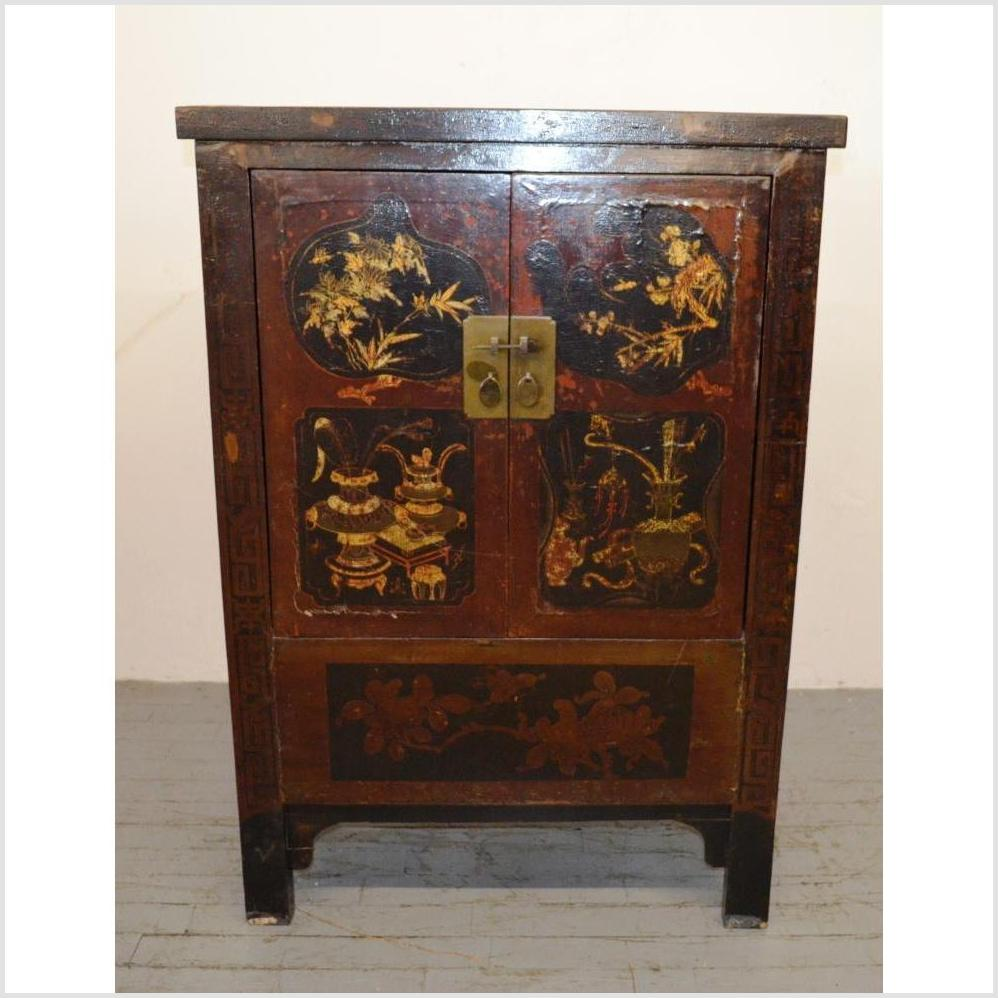 Small Hand Painted Cabinet