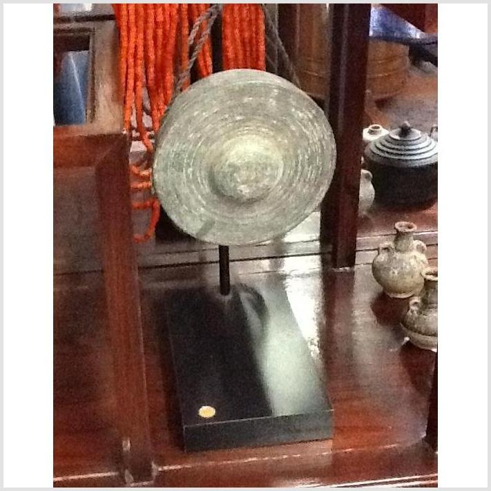 Small Metal Gong On Stand