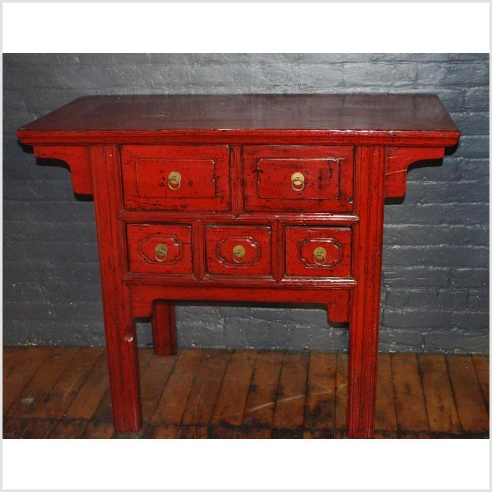 Small Red Sideboard