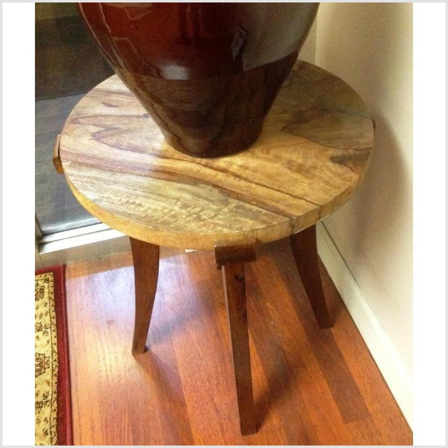 Small Round Mango Wood Table