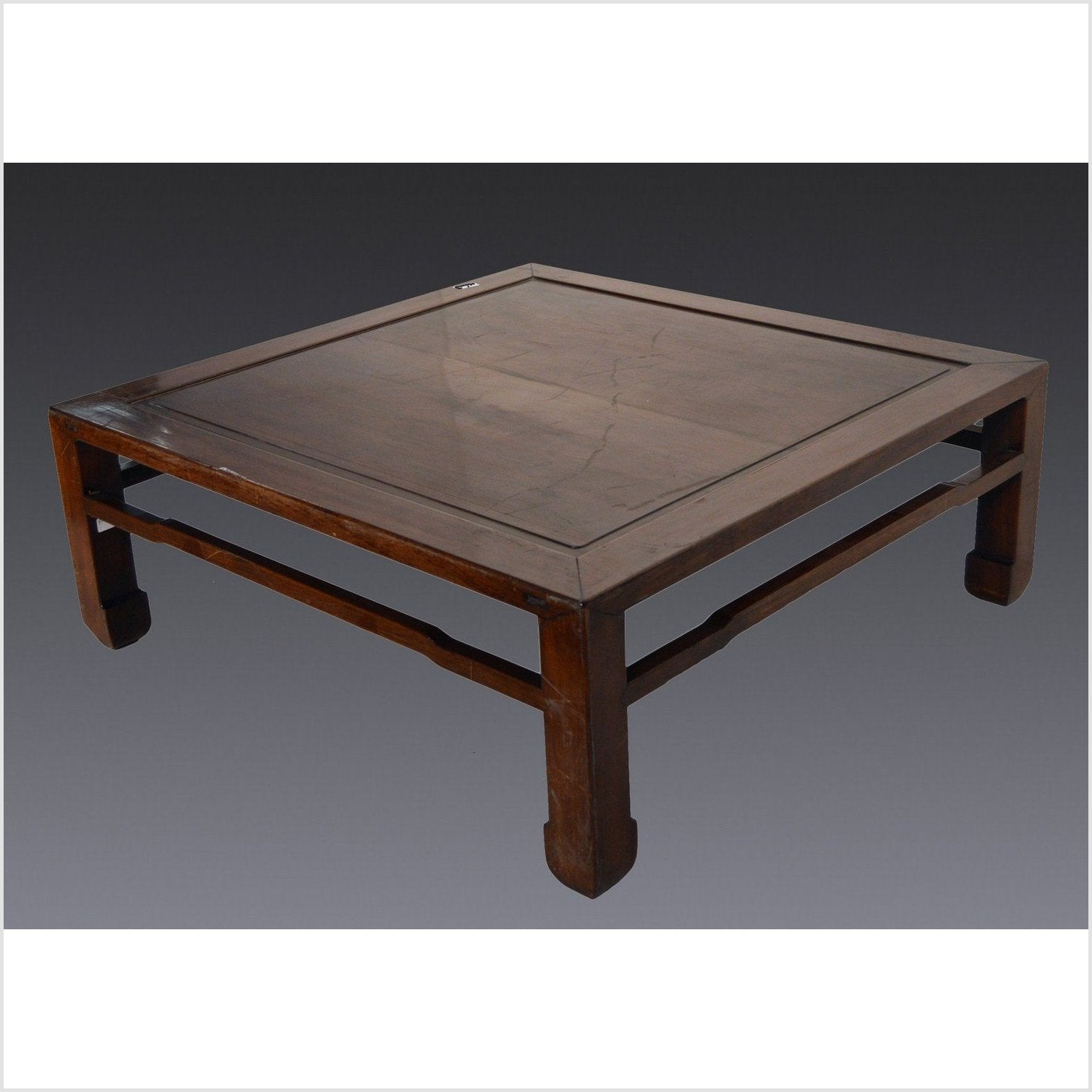 Square Coffee Table with Horsehoof Legs