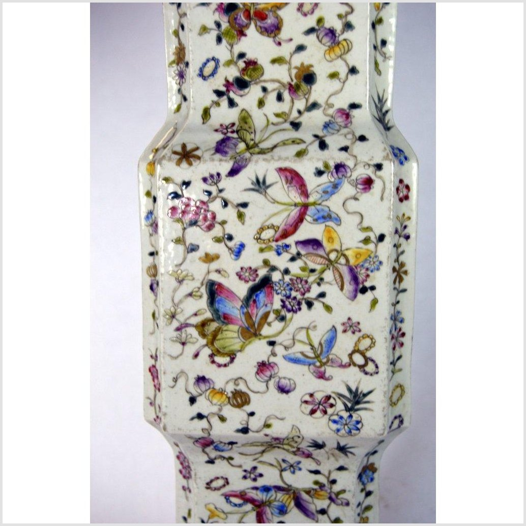 Tall Chinese Hand Painted Porcelain Vase