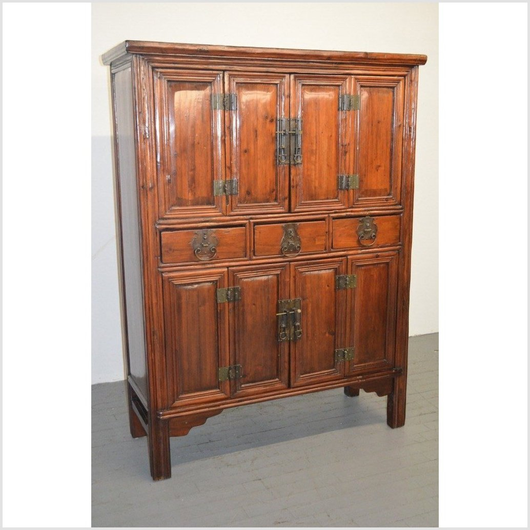 Unusual Antique Cabinet with Original Hardware