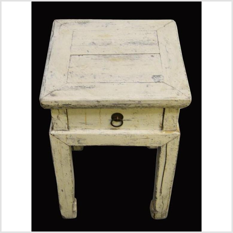 Vintage Whitewash Chinese Side Table