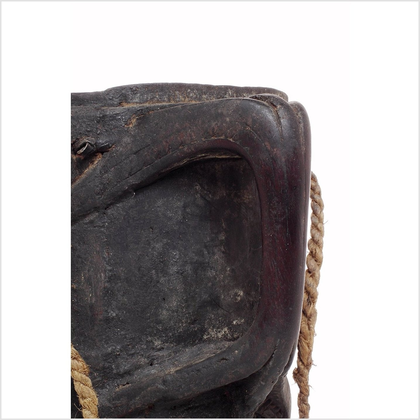 Wooden Indian Pitcher With Rope