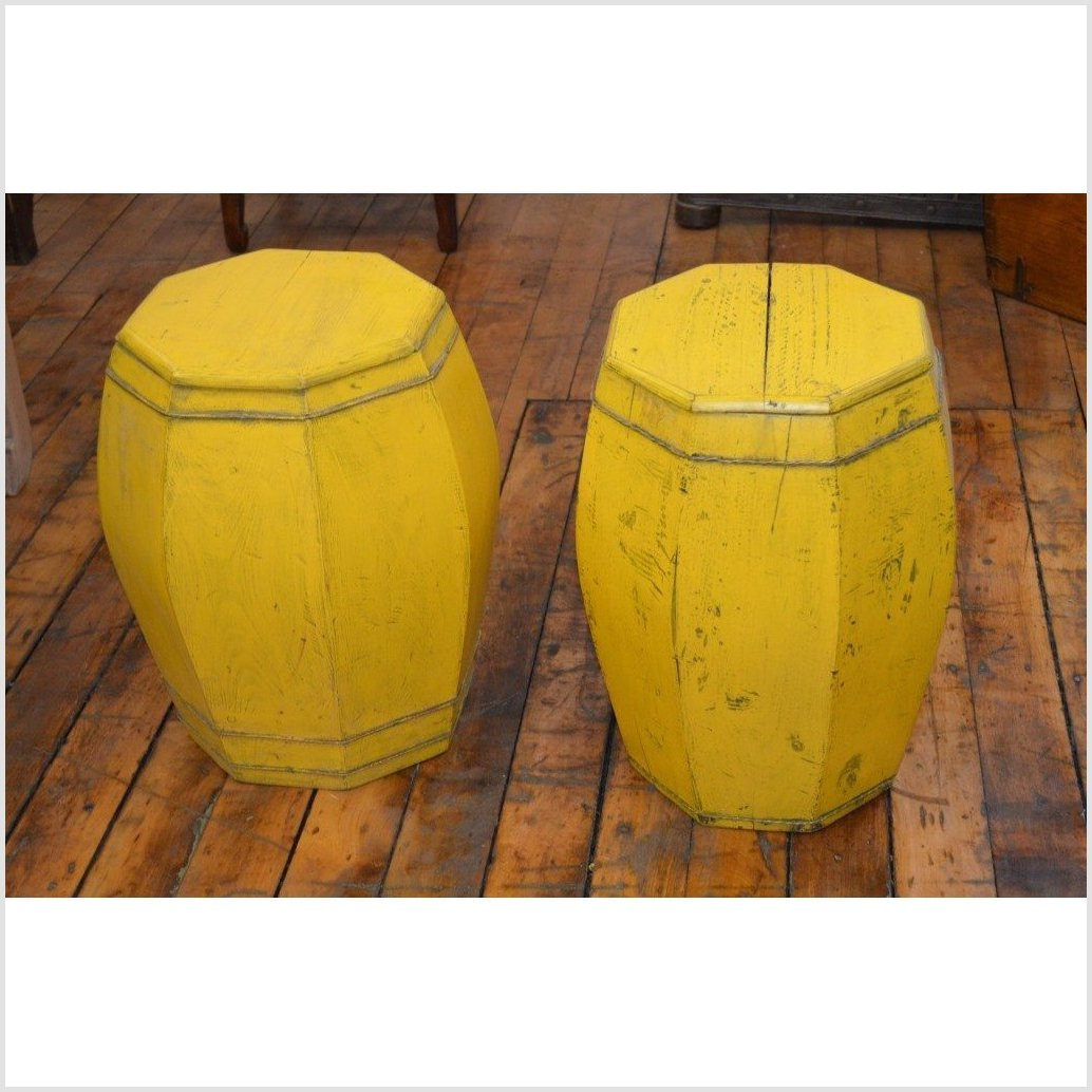 Yellow Side Tables/Drums