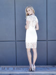 Romina Cap Sleeve Lace Dress