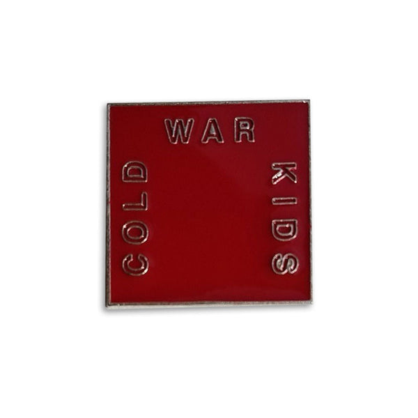 Cold War Kids Logo Red Enamel Pin