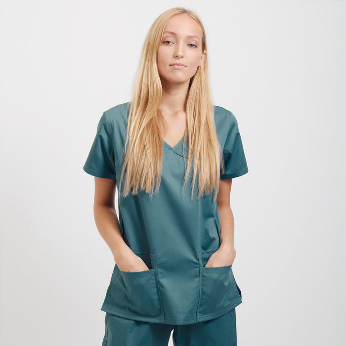 Designer scrubs medical apparel for women