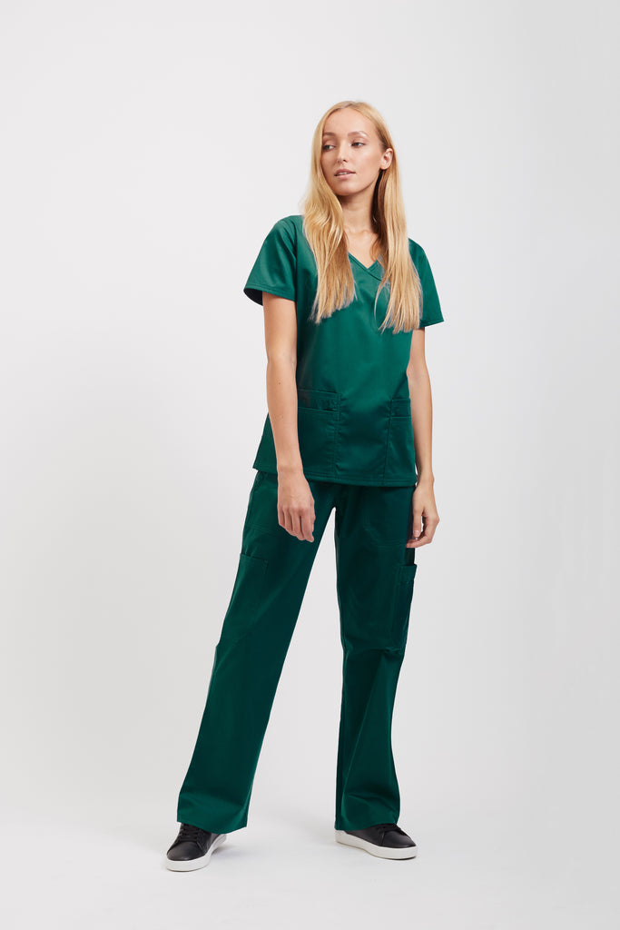 Fashionable Scrub Tops Deep Lake