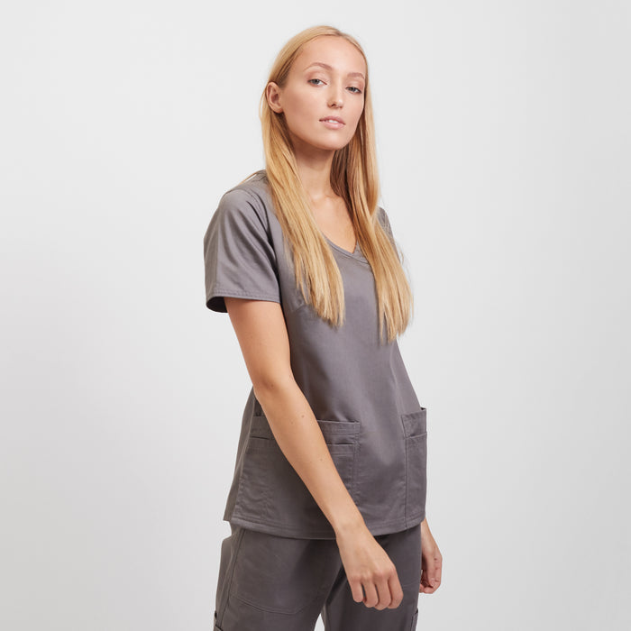 Women's Scrub Tops Grey