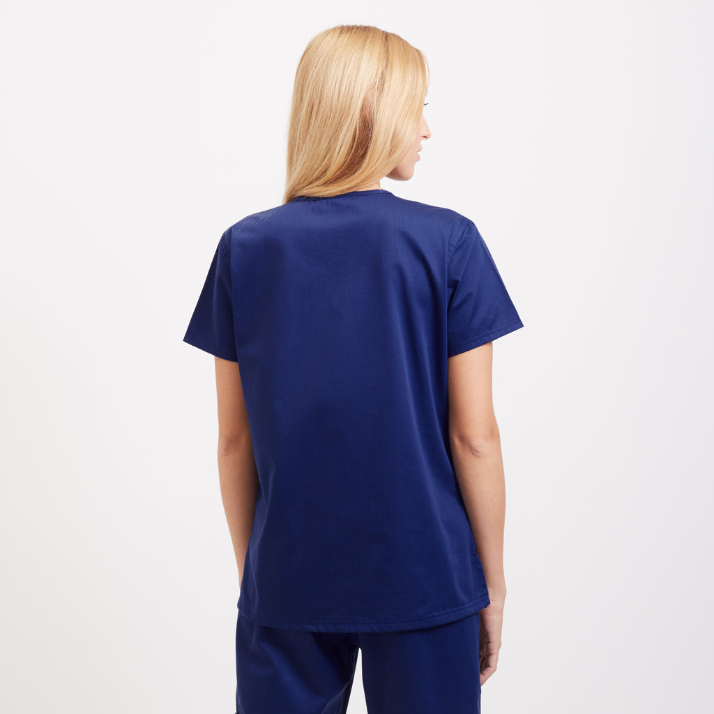 Medical Scrub Tops for Women in Navy