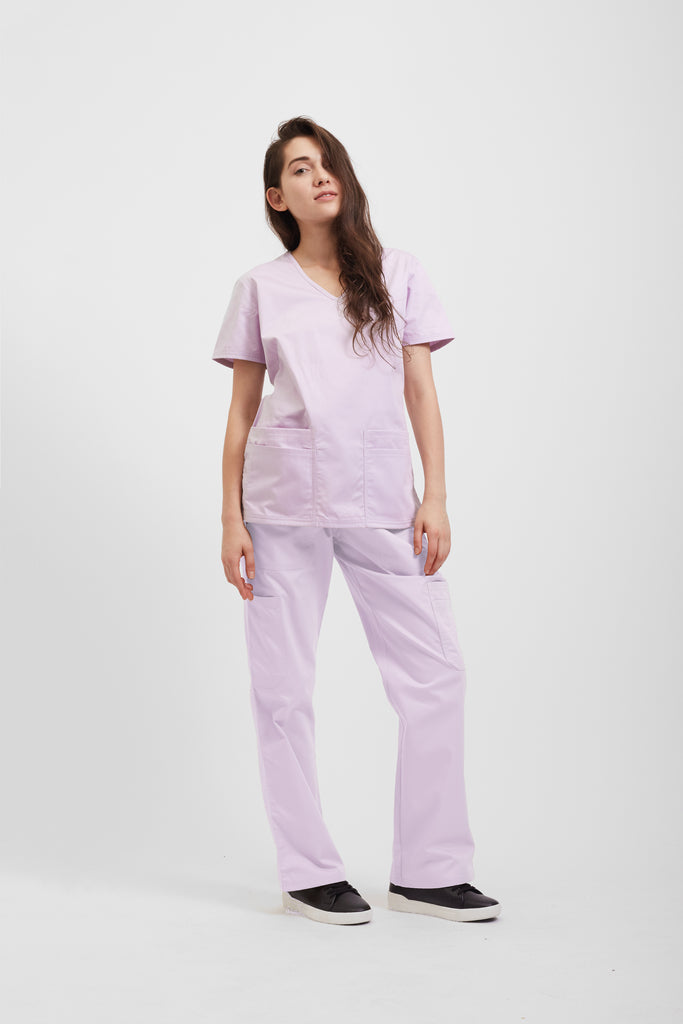 B Health's orchid medical scrubs