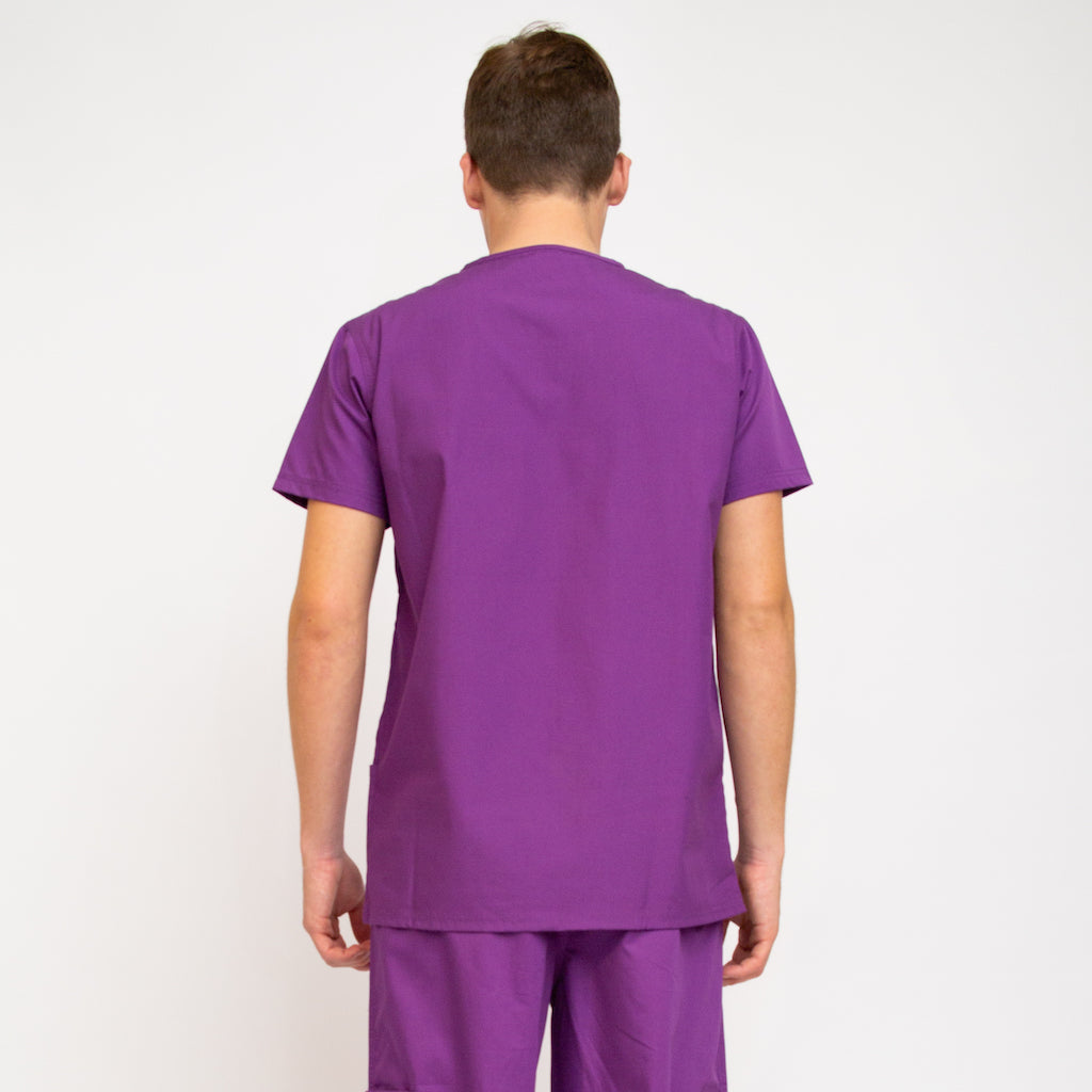 Designer Medical Scrub Tops Purple