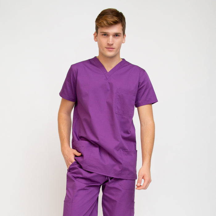 Men's Classic Fit Medical Top Purple