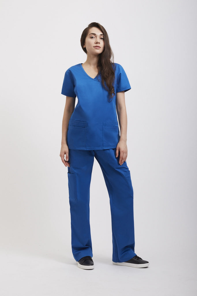 Designer Medical Scrub Blue Set