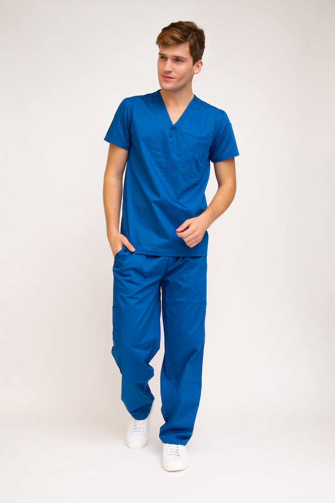 Classic Fit Stylish Medical Tops for Men