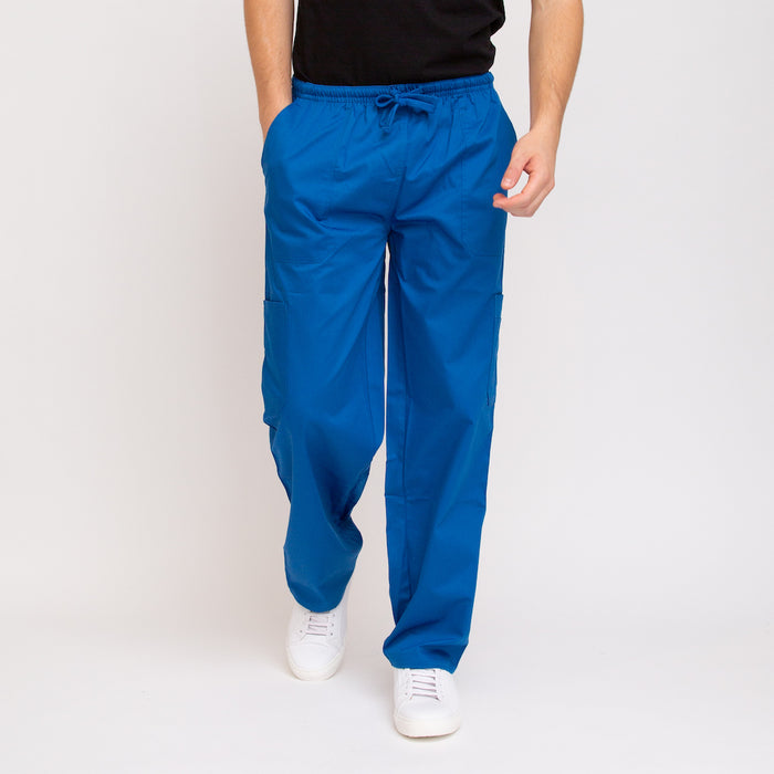 Royal Blue Classic Fit Straight Leg Scrub Bottoms