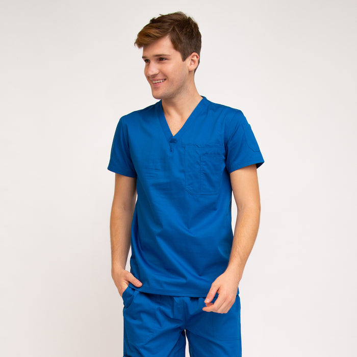 Men's Classic Fit Medical Top Royal Blue