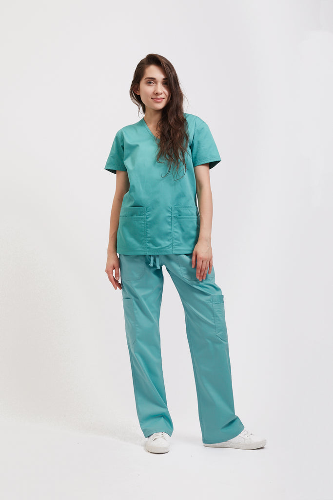 Medical Apparel Scrub Pant Sea Blue
