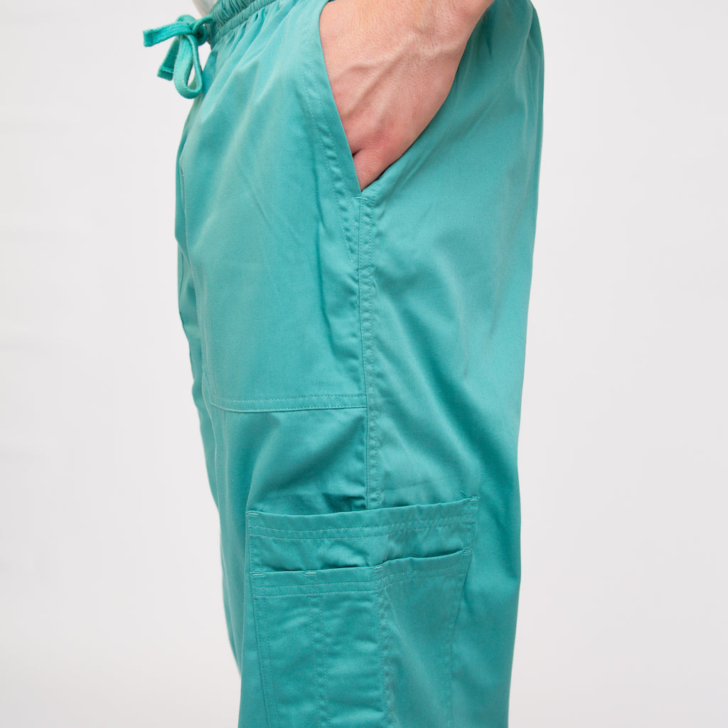 Straight Leg Sea Blue Scrub Bottoms