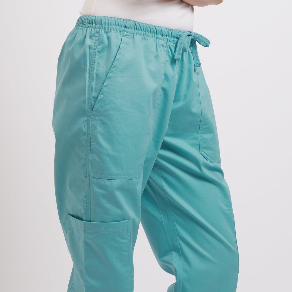Wrinkle free Scrub Pant Sea Blue