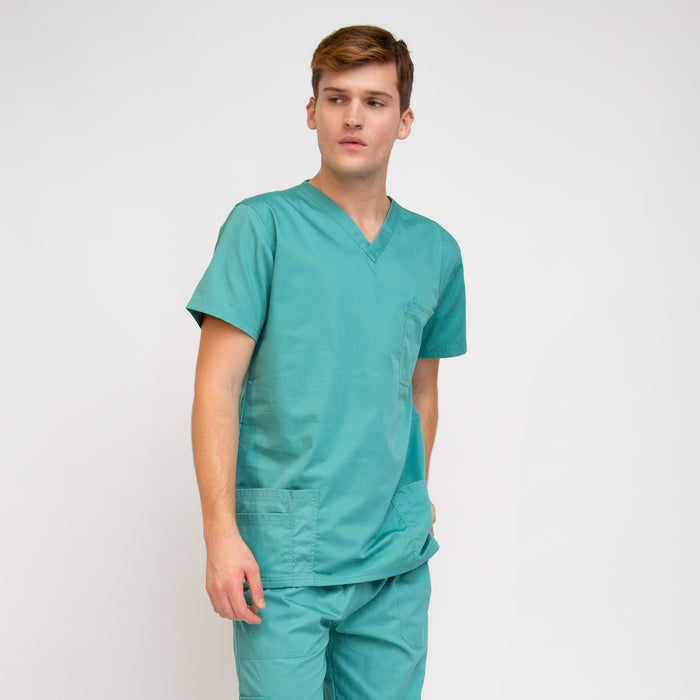 Men's Classic Fit Medical Top Sea Blue