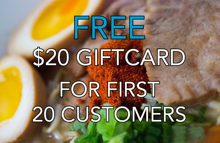 Free $20 giftcard for first 20 customers for our Main street grand opening December 15th!