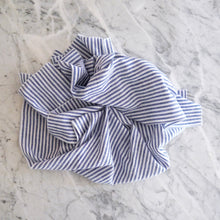 Hand Towel / Blue Linen Stripe