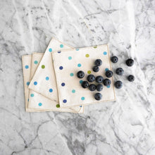 Cocktail Napkin Set / Blue Confetti