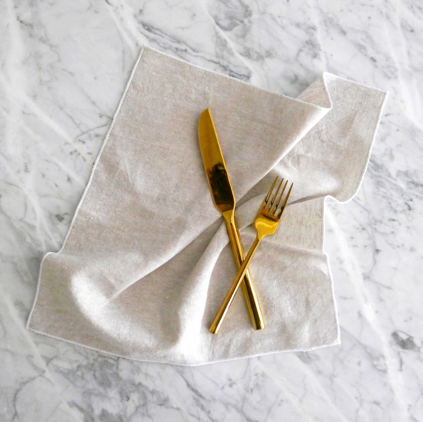 Dinner Napkin / Flax Chambray